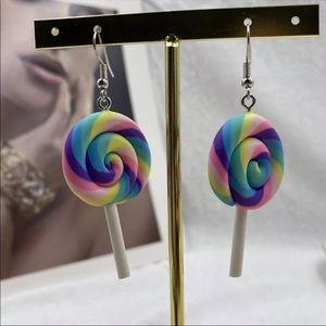 Fun Rainbow 🌈 lollipop 🍭 earrings pops lollipops